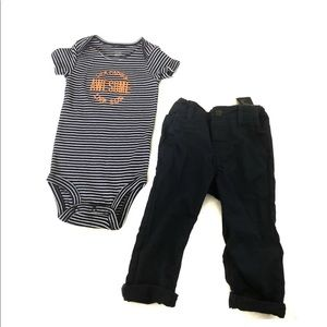 Baby Boy H&M Carters outfit New Onesie